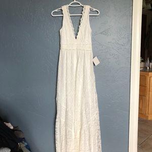 White Full Length Dress